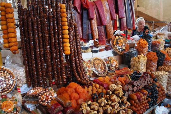 Central market of Yerevan - dried fruits
