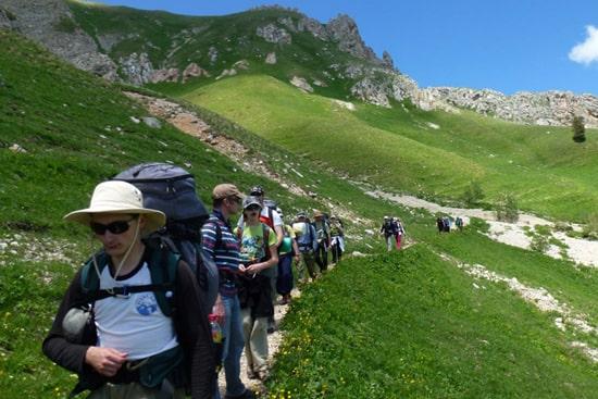 Walking tour in Armenia. Trekking