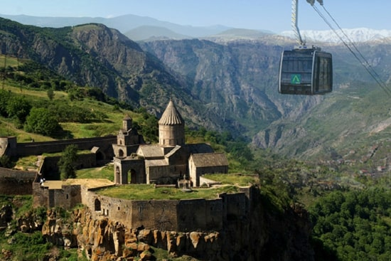 Tatev monastery and cable car